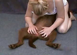 Playing with nice hole of my sexy doggy